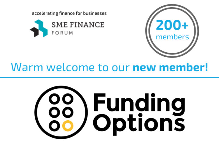 New member welcome social media card with Funding Options logo