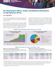 IFC Financing to Micro, Small, and Medium Enterprises in Sub-Saharan Africa